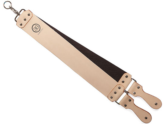30 Degree Thin Latigo Natural Leather Strop