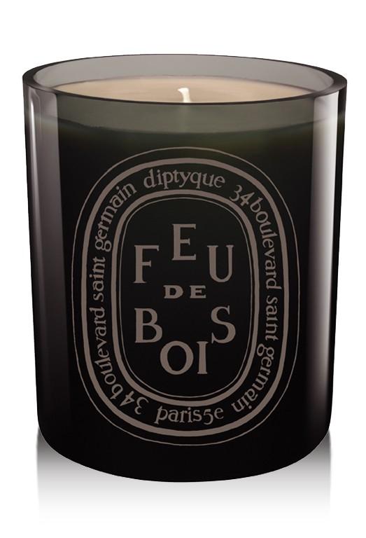 """Diptyque Feu de Bois """"Gris""""/""""Grey"""" Wood Fire Candle"""