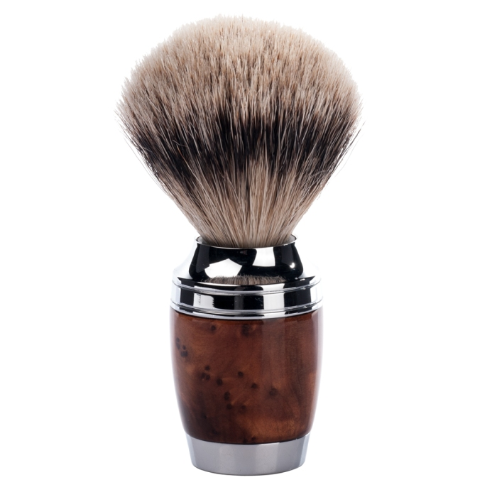 Muhle STYLO Thuja Wood Silvertip Badger Hair Shaving Brush