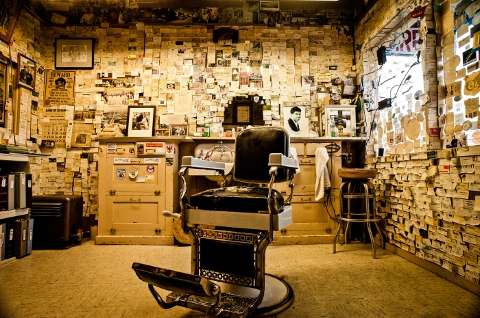 Angel's Barbershop in Seligman, Arizona