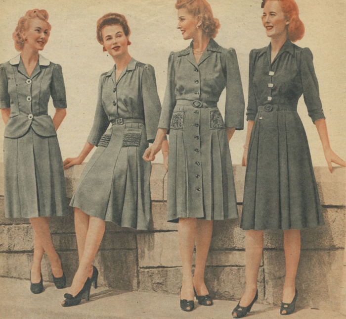 1940s-day-dress-war-years